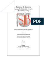 INTERPRETACION DE LOS CONTRATOS EN EL PERU
