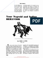 Your Negroid and Indian Behavior Jung