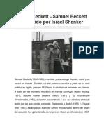 Samuel Beckett - Samuel Beckett Entrevistado Por Israel Shenker