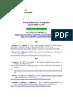 Iovitzu Linguistic Publications Updated March 2017