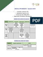 Horário Dos Cursos PFI - Unioeste - Sem 2 - 2018 - 10 Agosto - Ok