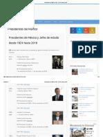 Presidentes de México 1824 - 2018