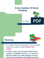 Single Entry System of Book Keeping Ch