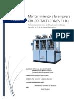 INFORME DE MANTENIMIENTO