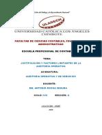 Justificacion Y FACTORES LIMITANTES de Auditoria Operativa