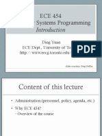Lecture 1 of System Programming