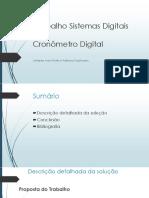 Apresenstação Trabalho Sistemas Digitais