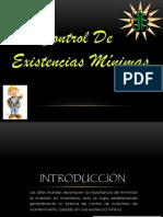 Control de Existencias Mínimas