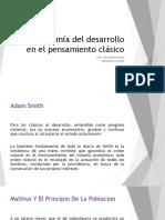 La Economía Del Desarrollo en El Pensamiento Clásico