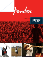 Fender ElectricGuitars Manual