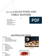 Australian Food and Table Manner