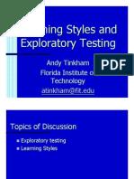 Exploratory Testing Slides