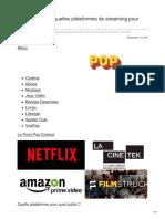 Lepoint.fr-guide Pratique Quelles Plateformes de Streaming Pour Quel Public