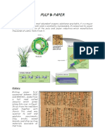 Pulp and Paper Written Report