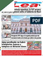 Periódico Lea Martes 25 de Septiembre Del 2018