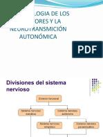 Farmacologia de Los Receptores y La Neurotransmición Autonómica
