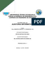 Directrices Para El Informe de Auditoria