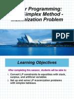 7 Simplex Maximization