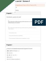 Examen Parcial - Semana 4 - Estructura de Datos