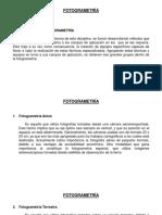 Clase 02 - Fotogrametría