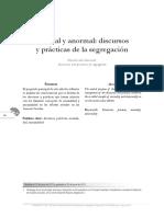 Normal y Anormal Discursos y Practicas de La Segregacion