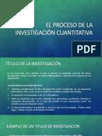 El Proceso de La Investigación Cuantitativa