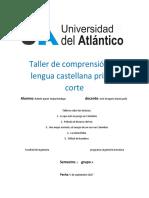 Taller de Comprensión de Lengua Castellana Primer Corte