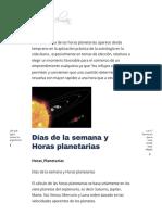 Horas Planetarias – Patricia Kesselman