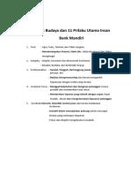 5 Nilai Budaya Dan 11 Prilaku Utama Insan Bank Mandiri