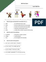 Midterm Exam Basic 6