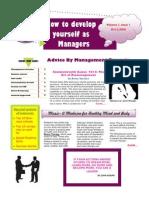 A management Magazine By Mangement Students