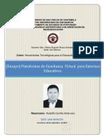 Ensayo) Plataforma de Enseñanza Virtual Para Entornos Educativos