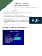 Ordenación Documental.