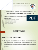 ESTRUCTURA CRISTALINA Y MORFOLOGÍA DE PELÍCULAS FINAS NANOCRISTALINAS TiN.pptx