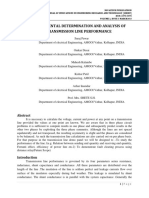 EXPERIMENTAL DETERMINATION AND ANALYSIS OF TRANSMISSION LINE PERFORMANCE
