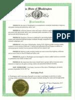 WA proclamation for Rail Safety Week