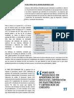 Posicion Del Peru en El Doing Business 2107