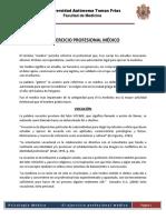EJERCICIO PROFESIONAL MEDICO