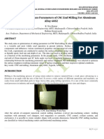 Optimization and Process Parameters of CNC End Milling For Aluminum Alloy 6082