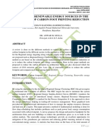 OVERVIEW OF RENEWABLE ENERGY SOURCES IN THE PERSPECTIVE OF CARBON FOOT PRINTING REDUCTION