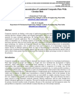 Analysis of Stress Concentration of Laminated Composite Plate With Circular Hole
