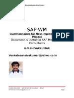 Warehouse Management Question