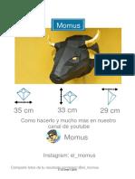 Toro papercraft