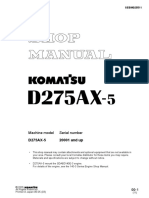 Komatsu D275AX-5 Dozer Bulldozer Service Repair Manual SN 20001 and up.pdf