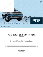 TATA Safari VTT Dicor Owners Manual