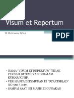 Visum Et Repertum New