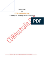 Sample Cdr Report for Electrical Engineer PDF