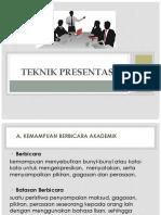 Teknik Presentasi BI 2018