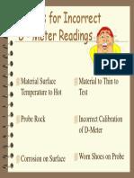 Incorrect UT Readings