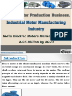 Electric Motor Production Business